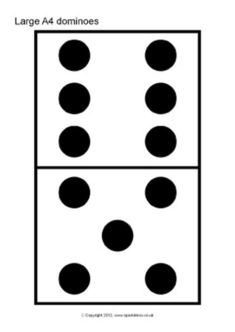 Domino Flash Cards Printable dominoes counting teaching resources and printables