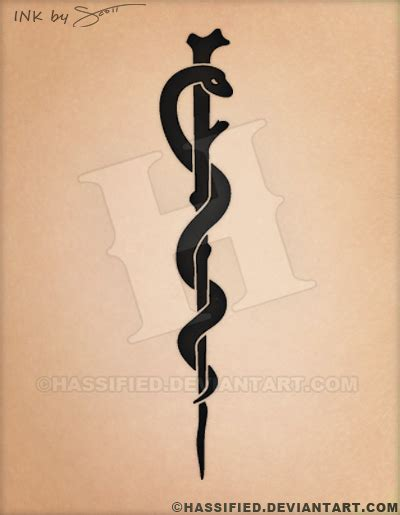 rod of asclepius tattoo rod of asclepius by hassified on deviantart