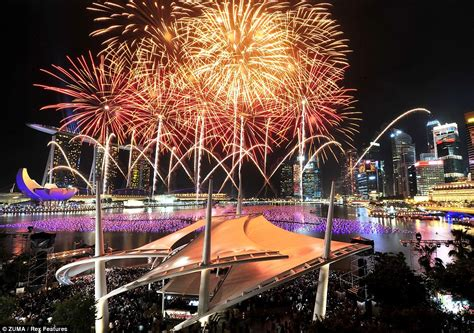 new year fireworks singapore happy new year spectacular pictures show countries across