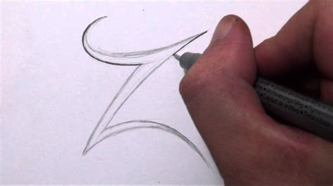 Letter Z Drawing by How To Draw A Simple Tribal Letter Z