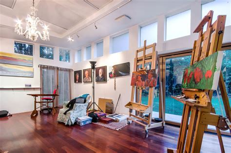 Artist Room by San Francisco Bay Area Artist Studio Eclectic Living