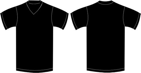 black v neck t shirt template v neck black tshirt clip at clker vector clip