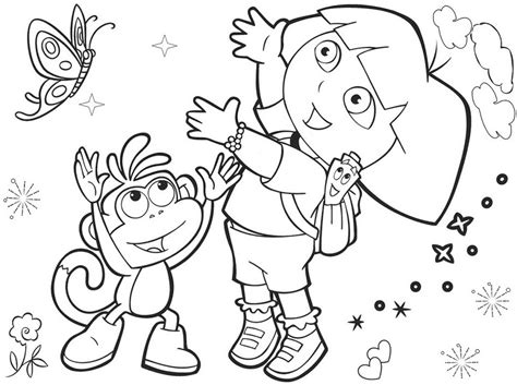 dora explorer coloring pages games dora the explorer colouring pictures games 481703