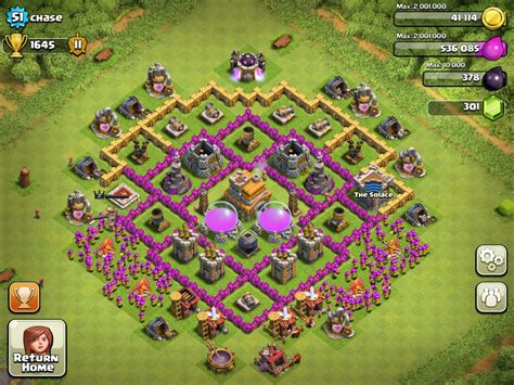 layout coc town hall 5 top 5 defensive layout for coc town hall 7 topp5