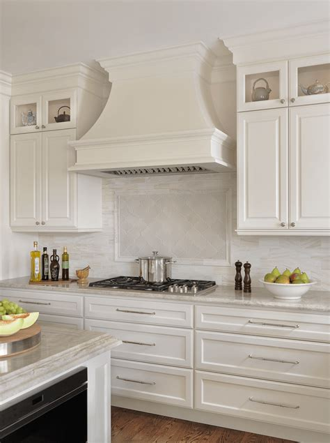 Backsplash Ideas For White Kitchen Cabinets by Custom Cabinetry And Range Hood Beck Allen Cabinetry