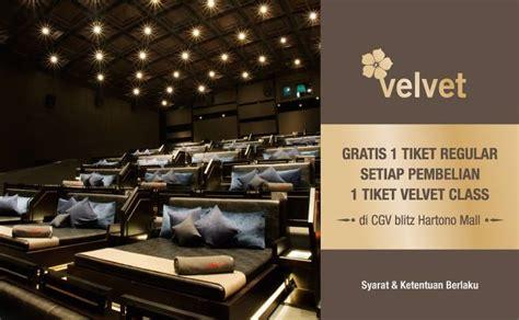 cgv yogyakarta cgv blitz velvet class promo beli 1 gratis 1