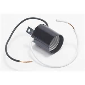 shop servalite 75 watt black wired light socket at