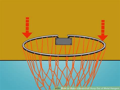 How To Make A Basketball Net Out Of Paper - how to make a basketball hoop out of metal hangers 10 steps