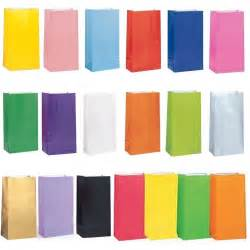 colored paper bags solid color paper birthday favor loot treat