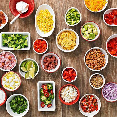 nacho bar toppings list easy buffet party idea baked potato bar