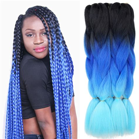 ombre synthetic braiding hair ombre kanekalon braiding hair 24 100g synthetic jumbo