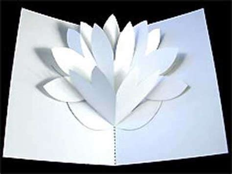 pop up flower template kirigami pattern diy flower pop up card for mothers day