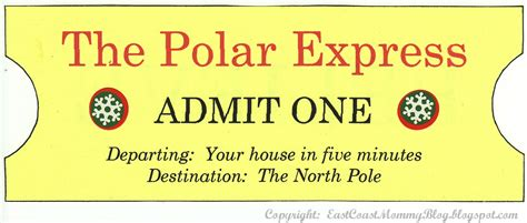 polar express golden ticket template east coast my version of the polar express