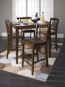 Height dining set table and 4 chairs acme furniture dining sets