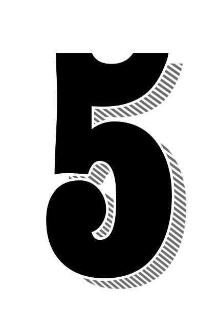 Numbers 5 Five Drop · Free image on Pixabay