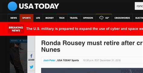 usa today business section ronda rousey found dead in bathtub after mma loss is a