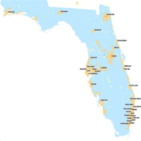 florida cities map fla map of florida cities pictures to pin on pinsdaddy