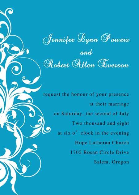 exquisite blue and white damask wedding invitations ewi019