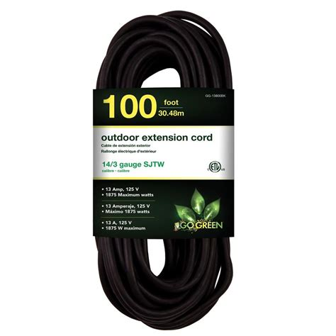 100 ft 14 outdoor extension cord coleman cable 100 ft 16 3 sjtw outdoor extension cord