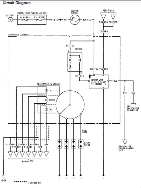 honda d16 distributor wiring diagram wiring diagrams