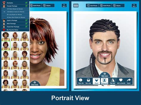 virtual hairstyles ipad app hairstyle pro for ipad try on virtual hairstyles for men