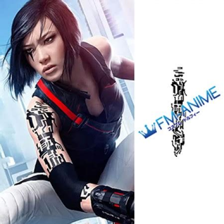 mirrors edge faith connors cosplay tattoo stickers