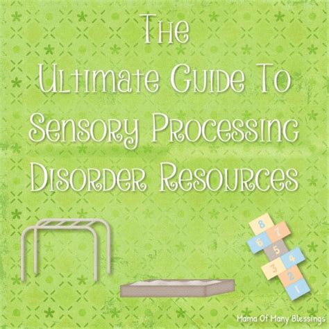 The Ultimate Guide To Resources by Ultimate Guide To Sensory Processing Disorder Resources