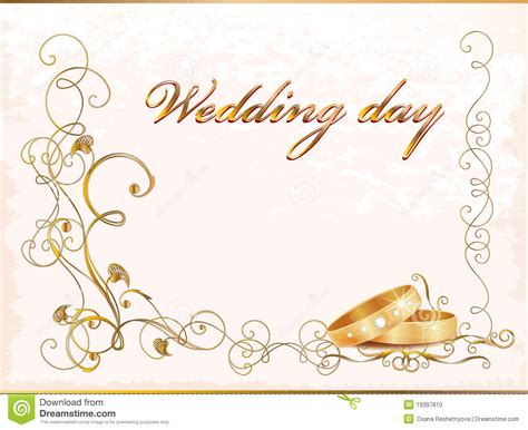 marriage wedding card images vintage wedding card stock vector illustration of