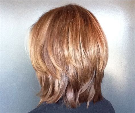 back of shoulder length hair layered shoulder length like the back but would want