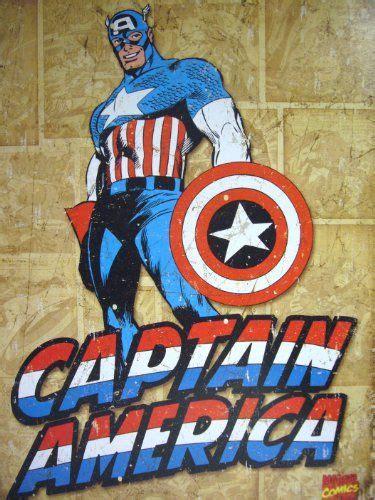 Captain America Vintage 20 Oceanseven captain america comic distressed retro vintage tin sign