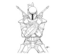 wars boba fett coloring pages coloring home