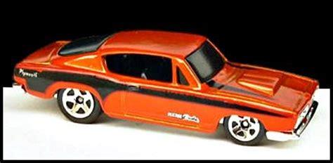 Hotwheels 68 Plymouth Hemi Cuda team mania wheels wiki
