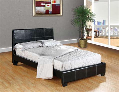 Size Bed Frame For by Black Faux Leather Size Platform Bed Frame Slats