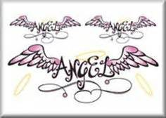 tattoos angel wings name middle 1000 images about ideas for hunters memorial tattoo on