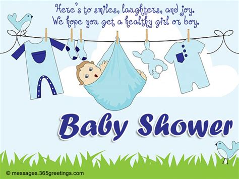 Baby Shower Greeting Card Wording by Baby Shower Card Messages 365greetings