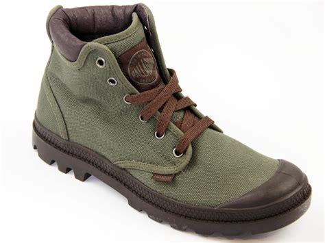 palladium boots mens palladium pa hi cuff mens retro canvas boots olive
