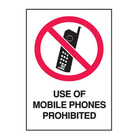 Kate And Take Cell Phones by Use Of Mobile Phones Prohibited