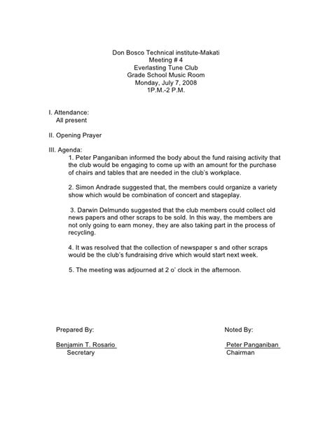 format for minutes of meeting template sle minutes of the meeting