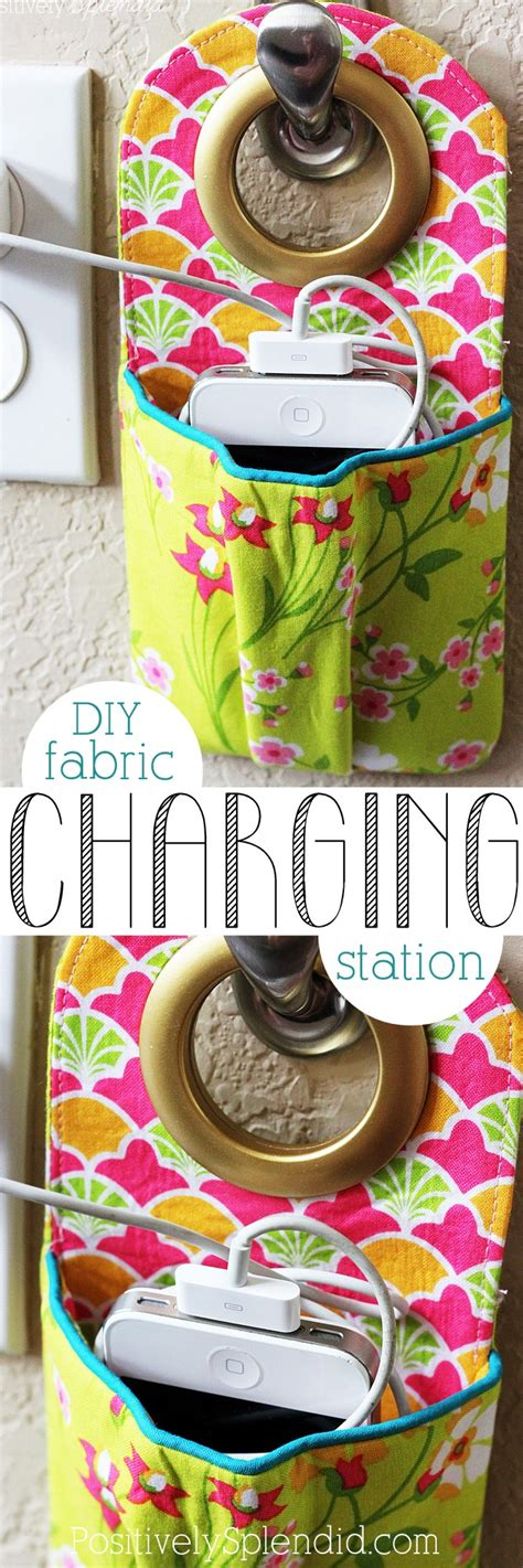 diy charging station a great tutorial to keep all your diy fabric phone charging station