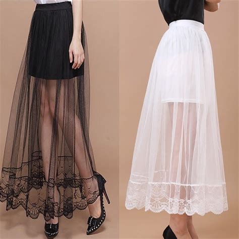 high waist sheer gauze mesh tulle lace floral