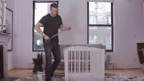 ryan reynolds ikea the struggle is real watch new dad ryan reynolds attempt