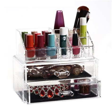 clear stackable makeup drawers cosmetic organizer clear acrylic makeup drawers holder