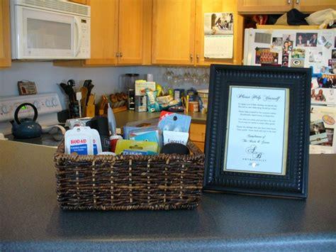 diy bathroom baskets   wedding planner