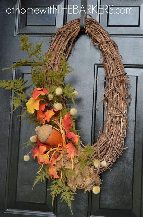 fall wreath ideas  home   barkers