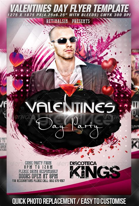 Print Template Graphicriver Valentines Day Party Flyer Template V 2 1270475 187 Dondrup Com Graphicriver Event Flyer Template