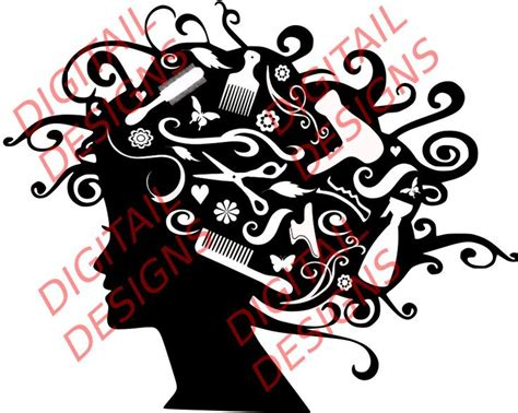 Hairstyle Tools Designs For Silhouette Cameo by 10 Best Images About Svgs On Hair Cars