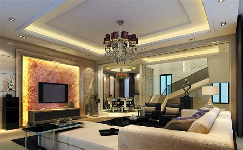 3d house design tv wall villa 3d house