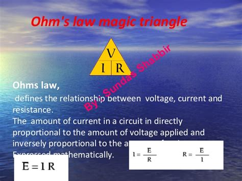 relationship between resistors and current ohms