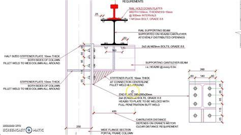 portal rail designs elevated industrial crane rail support detail