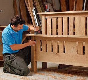 mission style bed  plan mission furniture diy